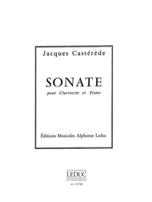 Sonate Jacques Castérède Partition Clarinette - laflutedepan