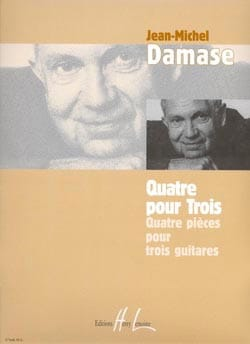 Quatre pour trois Jean-Michel Damase Partition Guitare - laflutedepan