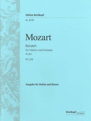 Concerto en la majeur KV 219 - MOZART - Partition - laflutedepan.com
