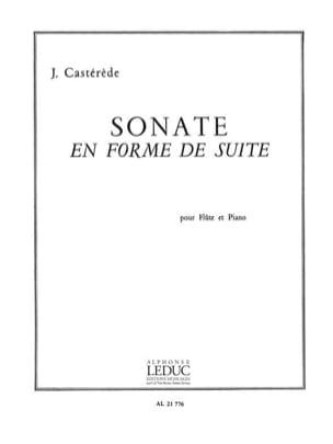 Jacques Castérède - Sonate en forme de suite - Flûte - Partition - di-arezzo.fr