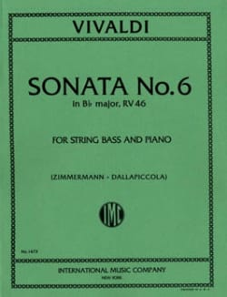 Antonio Vivaldi - Sonata No. 6 in B flat maj. RV 46 - String bass - Sheet Music - di-arezzo.com