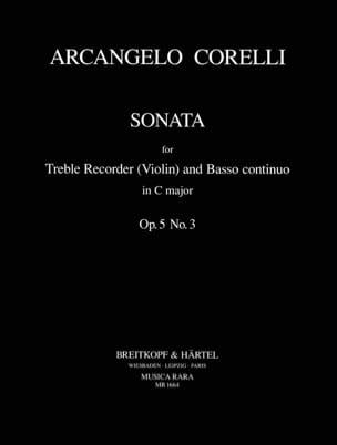 Sonata C-Dur Op. 5 N° 3 - CORELLI - Partition - laflutedepan.com