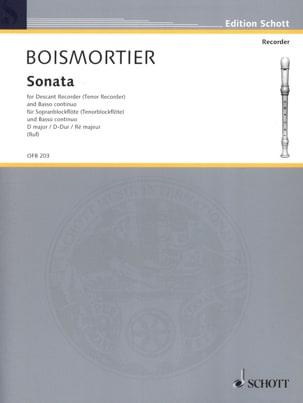 BOISMORTIER - Sonata für Sopranblockflöte Tenor—) u. Bc D-Dur - Partition - di-arezzo.fr