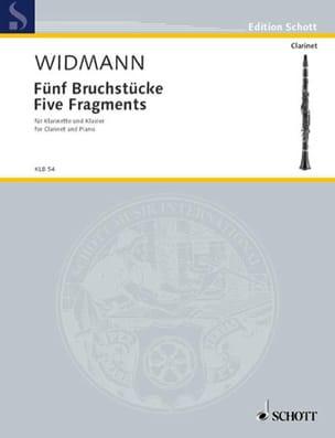 Fünf Bruchstücke Jörg Widmann Partition Clarinette - laflutedepan