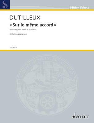 Sur le même accord – Violon piano - Henri Dutilleux - laflutedepan.com