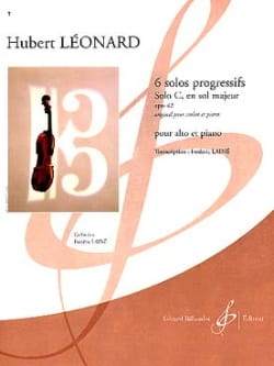 Hubert Léonard - Solo C in G major op. 62 - Sheet Music - di-arezzo.com