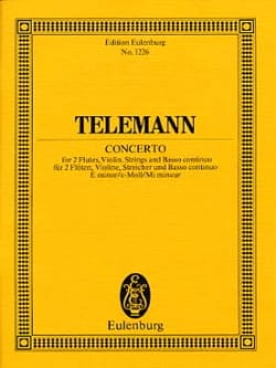 Konzert e-moll - Georg Philipp Telemann - Partition - laflutedepan.com