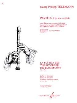 Partita 2 en sol majeur - TELEMANN - Partition - laflutedepan.com