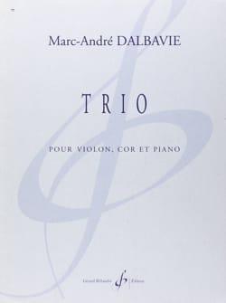 Trio Marc-André Dalbavie Partition Trios - laflutedepan