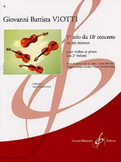 1er Solo du Concerto n° 18 VIOTTI Partition Violon - laflutedepan