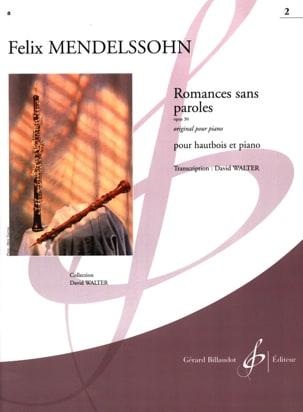 Bartholdy Felix Mendelssohn - Romances Sans Paroles Volume 2 : Opus 30 - Partition - di-arezzo.fr