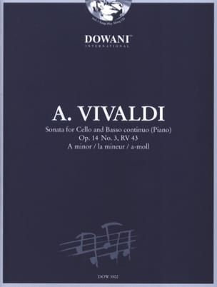 VIVALDI - Sonata op. 14 No. 3, RV 43 in the min. - Sheet Music - di-arezzo.com