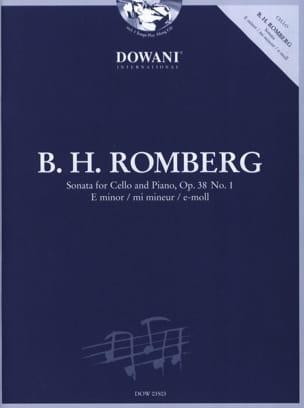 Bernhard Romberg - Sonata op. 38 n ° 1 in E minor - Partition - di-arezzo.co.uk