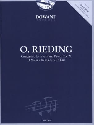 Oskar Rieding - Concertino op. 25 in D - Partition - di-arezzo.fr