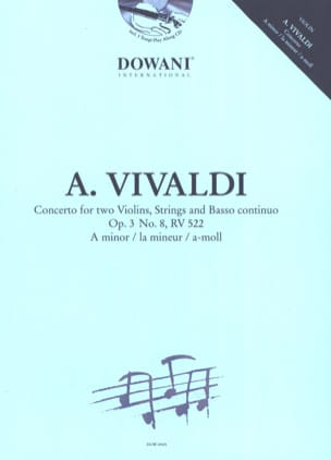 VIVALDI - Concerto for 2 Violins Op. 3 N ° 8 Rv 522 in the Minor - Sheet Music - di-arezzo.com