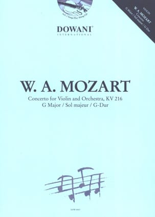 Wolfgang Amadeus Mozart - Concerto en sol majeur KV 216 - Partition - di-arezzo.fr