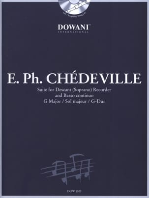 Philippe Esprit (L'Aîné) Chédeville - Suite for fl. soprano Bc in ground maj. - Sheet Music - di-arezzo.com