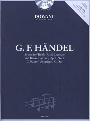 Georg Friedrich Haendel - Sonate op. 1 n° 7 en ut maj. –Treble recorder Bc - Partition - di-arezzo.fr