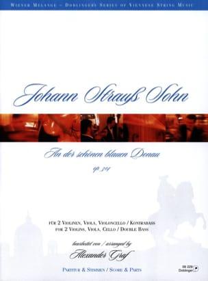 Johann (Fils) Strauss - An der Schönen blauen Donau op. 314 - Streichquartett - Partition - di-arezzo.fr