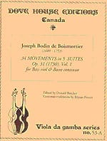 BOISMORTIER - 34 Movements in 5 Suites op. 31 - Volume 1 - Sheet Music - di-arezzo.co.uk