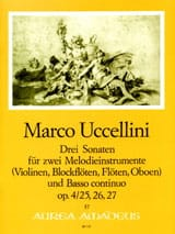 Marco Uccellini - 3 Sonatas op. 4 for 2 melodic instruments and Basso continuo - Sheet Music - di-arezzo.com