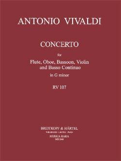 VIVALDI - Concerto En Sol Mineur - Rv 107 - Partition - di-arezzo.fr