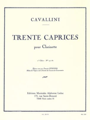 Ernesto Cavallini - 30 Caprices - Volume 2 - Clarinet - Sheet Music - di-arezzo.co.uk