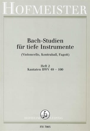 Johann Sebastian Bach - Bach-Studien Kantaten - Partition - di-arezzo.fr