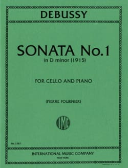 Claude Debussy - Sonata n° 1 in D minor (1915) - Partition - di-arezzo.fr