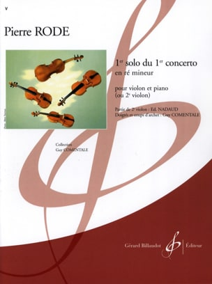 Pierre Rode - 1st solo of the Concerto n ° 1 in D minor - Sheet Music - di-arezzo.com