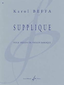 Karol Beffa - Supplique - Partition - di-arezzo.fr