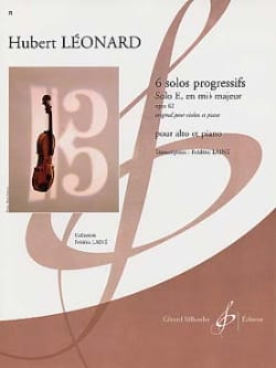 Hubert Léonard - Solo E in E flat major op. 62 - Sheet Music - di-arezzo.com