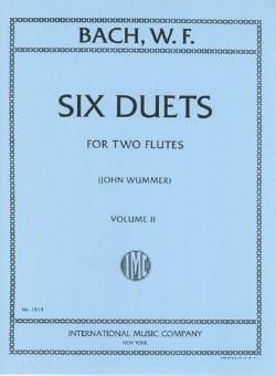 6 Duets - Volume 2 - 2 Flutes Wilhelm Friedemann Bach laflutedepan