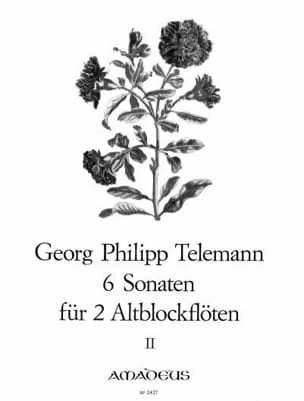 6 Sonaten für 2 Altblockflöten op. 2 - Bd. 2 TELEMANN laflutedepan