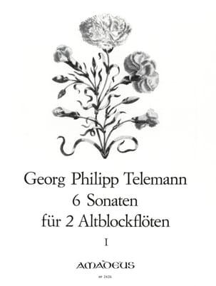 6 Sonaten für 2 Altblockflöten op. 2 - Bd. 1 TELEMANN laflutedepan