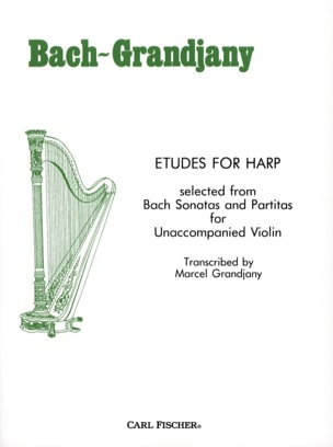 Etudes For Harp BACH Partition Harpe - laflutedepan