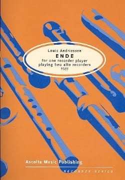 Louis Andriessen - Ende (1981) - Partition - di-arezzo.fr