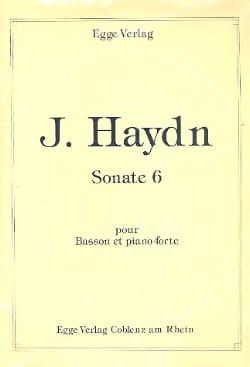HAYDN - Sonate n° 6 -Basson et piano-forte - Partition - di-arezzo.fr