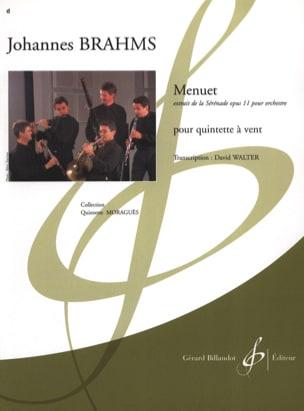 BRAHMS - Menuet extr. de la Sérénade Op. 11 - Partition - di-arezzo.fr