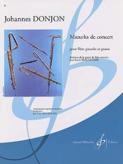 Mazurka de Concert Johannes Donjon Partition laflutedepan