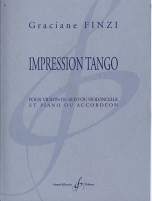 Impression Tango Graciane Finzi Partition Violon - laflutedepan