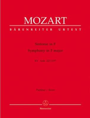 Wolfgang Amadeus Mozart - Symphonie F-Dur KV Anh. 223 (19a) – Partitur - Partition - di-arezzo.fr