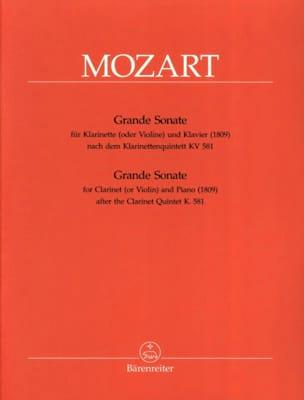 Wolfgang Amadeus Mozart - Grande Sonate KV 581 – Klarinette in A und Klavier - Partition - di-arezzo.fr