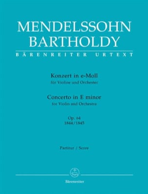MENDELSSOHN - Konzert for Violine in e-moll op. 64 - Sheet Music - di-arezzo.co.uk