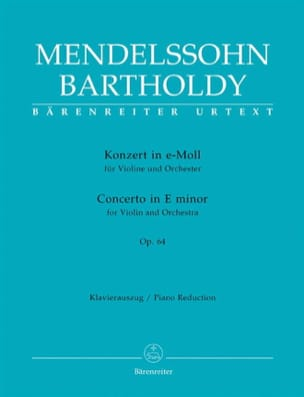 MENDELSSOHN - Concerto in E minor op. 64 - Partition - di-arezzo.fr
