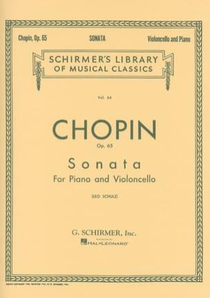 Sonate op. 65 en sol mineur - CHOPIN - Partition - laflutedepan.com