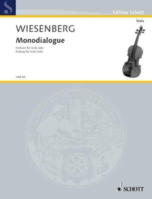 Menachem Wiesenberg - Monodialogue - Partition - di-arezzo.fr