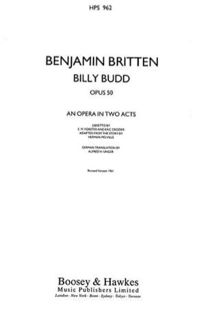 Billy Budd Op. 50 - Conducteur Relié BRITTEN Partition laflutedepan