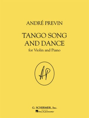 André Prévin - Tango Song And Dance - Sheet Music - di-arezzo.co.uk
