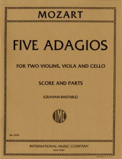 Wolfgang Amadeus Mozart - Five Adagios – String quartet - Score + Parts - Partition - di-arezzo.fr